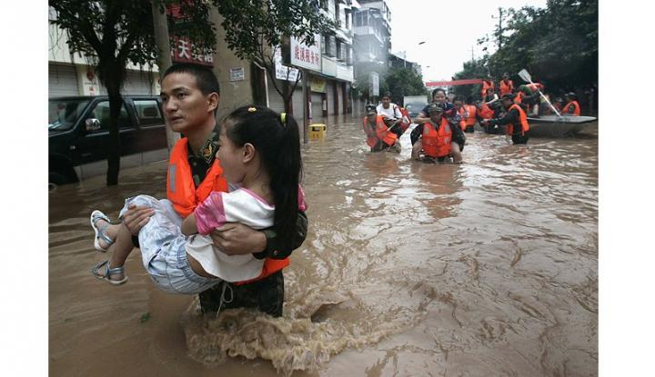 Foto Banjir Picu Keprihatinan Mengenai Keamanan Pangan di Tiongkok