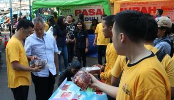Foto Pasar Murah,Tomy Winata: Ini Bukan Murah Loh!