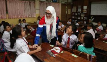 Foto Sinarmas MSIG Life Edukasi Keuangan Para Pelajar SD