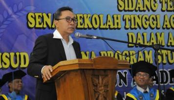 Foto Zulkifli Dorong Rakyat Indonesia Buat Bekerja Keras