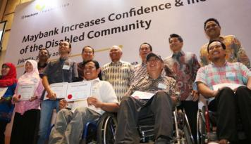 Foto Maybank Kembangkan RISE, Program Pemberdayaan Ekonomi Penyandang  Disabilitas