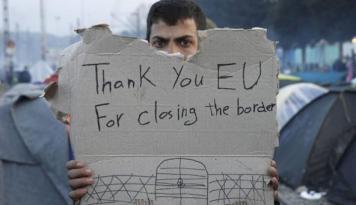 Foto Pendatang di Perbatasan Serbia-Hungaria Mogok Makan Tuntut Masuk UE