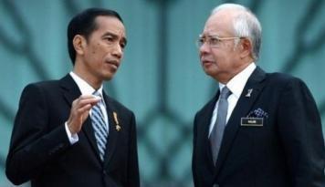 Foto Jokowi-Najib Bahas Tiga Isu Strategis RI-Malaysia