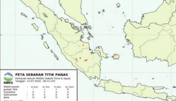 Foto BMKG: Hujan Tidak Kurangi Titik Panas di Sumatera