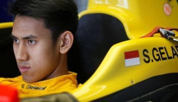 Foto Sean Gelael Hadapi Tantangan Berat di GP2 Belgia