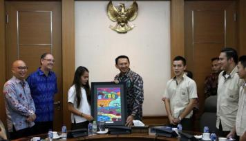 Foto Siswa Australian Independent School Kunjungi Gubernur DKI Jakarta