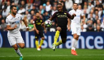 Foto Kalahkan Swansea 1-3, Manchester City Kokoh di Puncak Klasemen